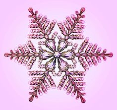 És egy hasonló, rózsaszínes árnyalatban (Fotó: Ken Libbrecht/Snowflakes.com)