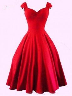 Glamorous Sweetheart Plain Skater-dress