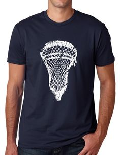 b151647a Men's Lacrosse Head Tee Shirt. Comfortable enough to wear for lacrosse  practice or to hang out with the team.