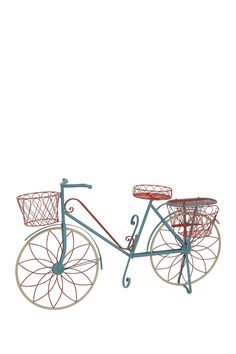 Blue Metal Bicycle Plant Stand by UMA on @HauteLook