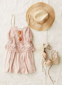 AEO Crocheted Front Romper