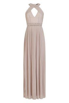 5913918921e TFNC Maxi Dress - Delicate chiffon fabric - Maxi length - Embellishment to  neckline and waist