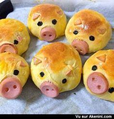 Akenini.com - Photos fun : Petits pains en forme de cochons