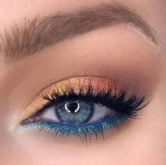 blue eyeshadow looks ~ blue eyeshadow ; blue eyeshadow looks ; blue eyeshadow looks step by step ; blue eyeshadow for brown eyes ; blue eyeshadow looks for brown eyes ; blue eyeshadow for black women ; Makeup Eye Looks, Eye Makeup Art, Blue Eye Makeup, Makeup Inspo, Makeup Tips, Beauty Makeup, Makeup Tutorials, Makeup Ideas, Eyeshadow For Blue Eyes