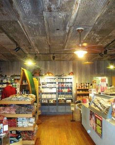 stores with rustic ceilings | on general store ceiling barn siding walls oak floor in candy store ...