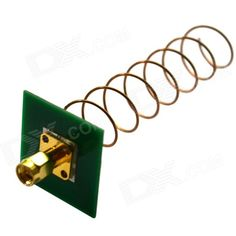 High Gain 5.8GHz 11dbi Helical Antenna Internal Thread Needle - Gold + Green. Features: - Perfectly compatible with Aomway transmission two frequencies: 5705-5945MHz; 5740-5860MHz - All frequency channel standing wave less 1.5 - PCB board as reflection board, effectively improves antenna gain - High self recovery function.. Tags: #Hobbies #Toys #R/C #Toys #Other #Accessories