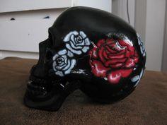 roses on a skull Airbrush Art, Roses, Skull, Pink, Rose, Skulls, Sugar Skull