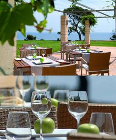 Hotel Can Simoneta   Boutique Hotel   Spain   http://lifestylehotels.net/en/can-simoneta   outdoor, terrace, restaurant, apples, food