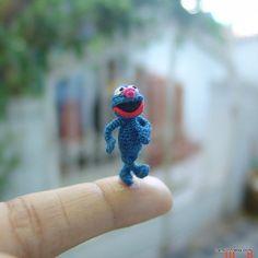 1 inch crochet navy blue muppet doll  micro amigurumi by LamLinh, $55.49  <3