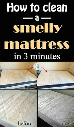 How To Clean Mattress Stains Amp Odors Best Of Pinterest