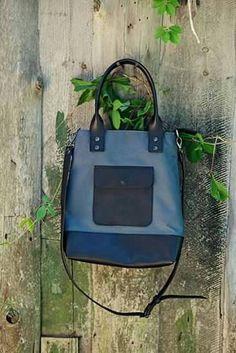 Waxed canvas leather purse canvas leather crossbody bag by DingoM
