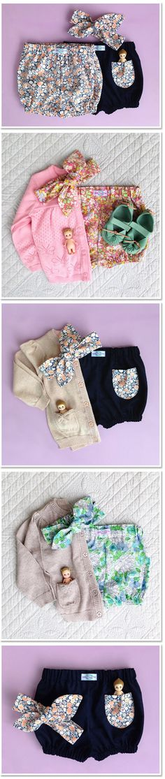 Little Maggie Moo Handmade Bloomers, Shorts, Headbands