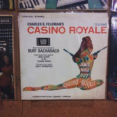 Forever on the wall in my studio: the soundtrack to the film Casino Royale, composed by Burt Bacharach. Herb Alpert, Casino Royale Theme, Dusty Springfield, Columbia Pictures, Looking For Love, James Bond, Soundtrack, Album Covers, Singing