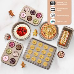 E-Gtong 6-Piece Nonstick Bakeware Set, Toaster Oven Baking Pan Set with Nonstick Coating, Includes Large Cookie Sheet/Baking Sheet, Round Baking Pan, Loaf Pan, Round Cake Pan, 6-Cup Mini Muffin Pans ... (This is an affiliate link) #bakewaresets