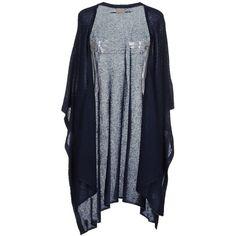 Vero Moda Cardigan (€62) ❤ liked on Polyvore featuring tops, cardigans, dark blue, blue top, vero moda, lightweight short sleeve cardigan, blue short sleeve cardigan and lightweight cardigan