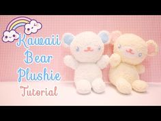 Hi guys! Here is tutorial on how to make yourself a Kawaii Bear Plushie with a pair of socks! I hope you enjoy this DIY video :) If you make this, please sha. Sock Crafts, Fun Crafts, Diy Teddy Bear, Kawaii Diy, Kawaii Plush, Sock Dolls, Rag Dolls, Fabric Dolls, Sock Animals
