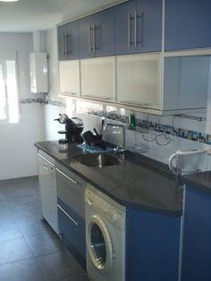 muebles de cocina azul   Diseño de interiores