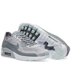detailed look 4e1ea f907a Nike air max 90 ultra 2.0 flyknit shoes mens sneakers platinum   cool grey
