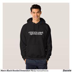 Men's Black Hooded Sweatshirt V2 - Stylish Comfortable And Warm Hooded Sweatshirts By Talented Fashion & Graphic Designers - #sweatshirts #hoodies #mensfashion #apparel #shopping #bargain #sale #outfit #stylish #cool #graphicdesign #trendy #fashion #design #fashiondesign #designer #fashiondesigner #style