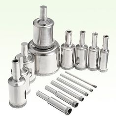 24PCS Diamond Burr Set Shank Stainless Steel Rotary Files for Teeth Drilling Carving Engraving