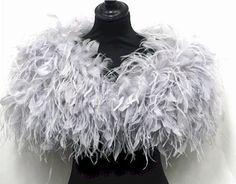 Feather Wraps, Stoles, Shrugs, ostrich cape, ostrich wrap, bridal ...