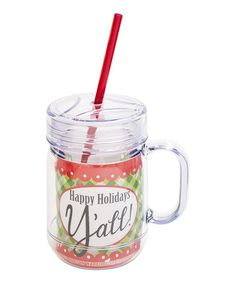 Take a look at this 'Happy Holidays Y'all' 20-Oz. Mason Jar by Boston Warehouse on #zulily today!