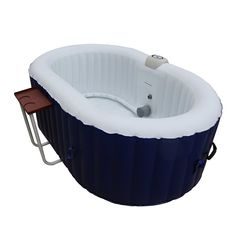 Oval Hot Tub 2-Person Inflatable Plug and Play Spa with Drink Tray