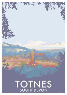 South Devon, Railway Posters, Letter Art, Letters, Vintage Travel Posters, Travel Style, Seaside, Art Deco, Illustration