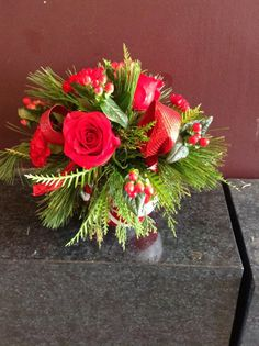 Candy Cane arrangement. With a adorable Candy dish keepsake.