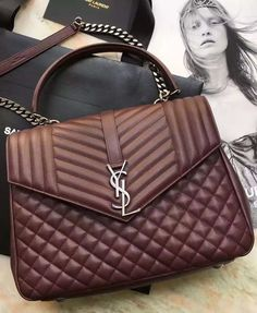 The Saint Laurent Large Monogram Envelope Satchel bag is special, useful and practical. It is elegant as well and the design is more than just perfect for business women. See more at https://www.luxtime.su/ysl-bags
