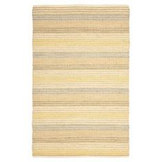 Jute rug with multicolor striping. Handcrafted in India.   Product: RugConstruction Material: 100% JuteColor: MultiFeatures: Handmade in IndiaNote: Please be aware that actual colors may vary from those shown on your screen. Accent rugs may also not show the entire pattern that the corresponding area rugs have.