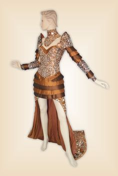 #laser dress. Woman drees with metal fabric applique. Created by GMI staff
