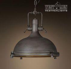 Large Dome 1 Light Brown Pendant Light