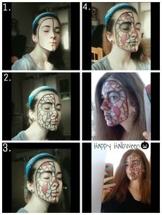 Woo it's almost Halloween!! I don't really know what I did, but I like this makeup