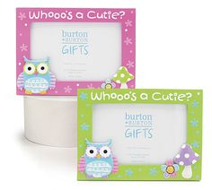 These owl picture frames are the cutest ever.  They will display your pictures to sit around the house or carry to your desk at work.  So cute.....
