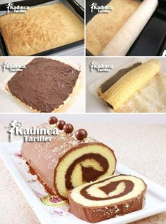 Cocoa Roll Cake Recipe, How to Make? - Feminine Recipes - Delicious, Practical and Most Exquisite Recipes Site - Cheesecake Recipes - Yemek Tarifleri - Resimli ve Videolu Yemek Tarifleri Best Cheesecake, Cheesecake Recipes, Dessert Recipes, Pie Recipes, Homemade Cheesecake, Classic Cheesecake, Cocoa Recipes, Chocolate Recipes, Sweet Recipes