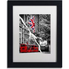 Trademark Fine Art London Bus Canvas Art by Philippe Hugonnard White Mat, Black Frame, Size: 11 x 14