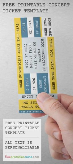 Concert Ticket Template Free Printable Magnificent Win 2 Tickets To See Evidence At The Novomicrosoft In Los .