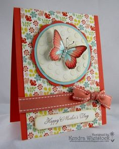 Nice layout with pretty colors. Mother's Day card