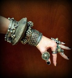 Wowza! Now that's a cuff!.. *Tribal Banjara Bracelet Unique Sawblade Banjara by DancingTribe*