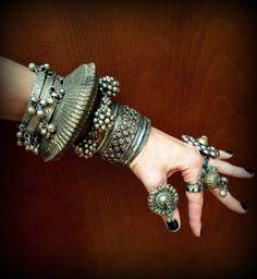 Wowza! Now that's a cuff!.. *Tribal Banjara Bracelet Unique Sawblade Banjara by DancingTribe*