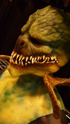 Night Terror Productions silicone mask at the St. Louis Transworld Halloween and Haunt Convention 2014.