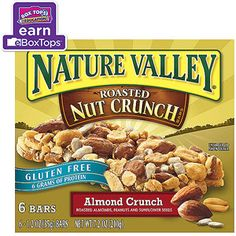 Nature Valley Almond Crunch Roasted Nut Crunch Bars, 1.2 oz, 6 count