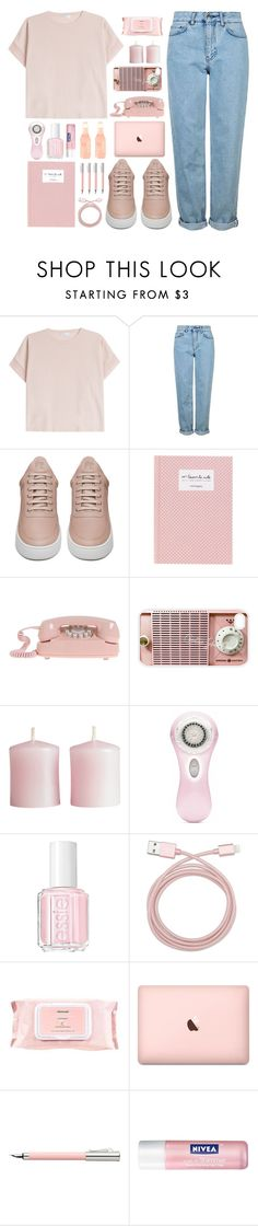"""Bubble Gum"" by dn8-35 ❤ liked on Polyvore featuring Brunello Cucinelli, Topshop, Filling Pieces, Samsung, H&M, Clarisonic, Essie, Belkin, Mamonde and Faber-Castell"