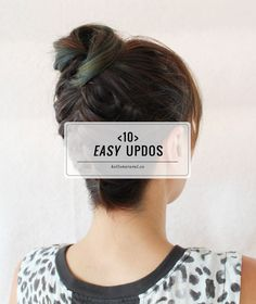 10 Easy Updos You Can Actually Do With 2 Hands | http://hellonatural.co/10-easy-updos/
