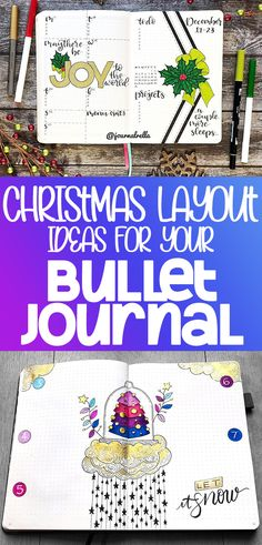 Looking for great ideas for Christmas and other winter holidays in your bullet journal? Check out these epic bullet journal holiday theme layouts! Bullet Journal Hacks, Bullet Journal How To Start A, Bullet Journal Themes, Bullet Journal Spread, Bullet Journal Layout, Bullet Journal Inspiration, Bullet Journals, Journal Ideas, Journal Prompts