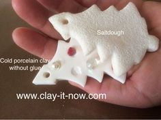 cold porcelain clay without glue - homemade clay - better than saltdough- Christmas tree decorations