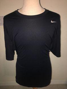 NIKE MENS DRI FIT Athletic T SHIRT SIZE 2XL XXL Navy Blue   #Nike #ShirtsTops