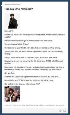 doctor who sherlock tie in