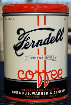 Great Deco-Era packaging design: Ferndell Coffee,1930